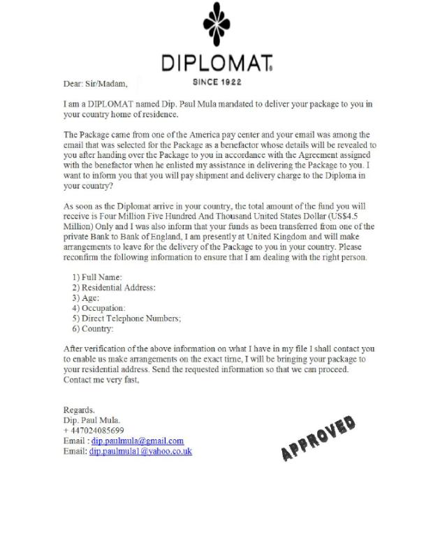 Lettre-diplomate